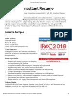 SAP MM Consultant - Resume Sample