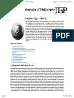Internet Encyclopedia of Philosophy » Maimon, SolomonInternet Encyclopedia of Philosophy » Print