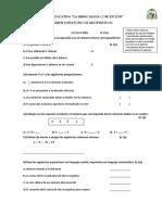 Octavo Examen Supletorio de matemáticas