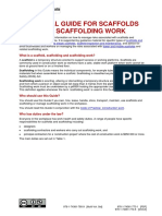 Scaffolds Scaffolding Work General Guide