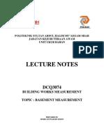 Basement Lecture Notes