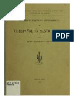 PHU, El Español en Santo Domingo 1a