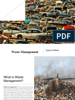 Waste Management - Types & Effects