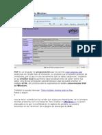 Cómo Instalar PHP en Windows