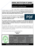 Notice to All Practicing Engineering Professionals and Engineering Organisations