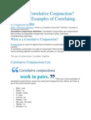 Conjunction s | Sentence (Linguistics) | Subject (Grammar)