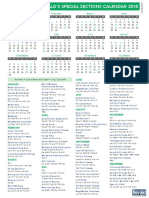 Special Sections Calendar 2018
