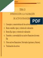 Valoracion de Activos Fijos y Variables