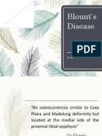 Blount's Disease - NIF