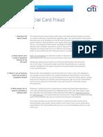 Citi Commercial Card Fraud FAQ