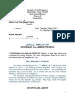 JA- Insong Case Witness Proceso