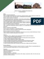 Patrimonio Cultural y Artístico de Andalucia 2016-17