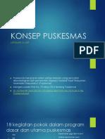 KONSEP PUSKESMAS