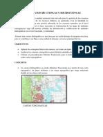 Delimitacion de Cuencas y Microcuencas