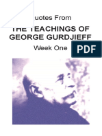Quotes From the Teachings of Gurdjieff Week One-1