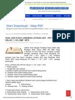Soal Dan Kunci Jawaban Latihan Ukk - Pat Ips Kelas 7 ( Vii ) Smp _ Mts _ Pendidikan Kewarganegaraan
