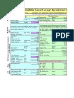 homebuild aircraft design spreadsheet.xls