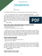 Bai Luan Tieng Anh Lop 9 English Essay