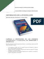 Resumen Del Libro Sampieri Investigacion