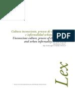 Italo Bonino J. Nieves - Cultura Inconsciente, Proceso de Cholificación e Informalidad Urbana en El Perú
