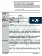 Especializacion Tecnológica Producción y Consumo Sostenible