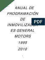 Manual de Programación de Inmovilizadores General Motors