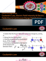 4 Electric Charge, Coulomb's Law and Electric Fields Due to Continuous Charge Distributions