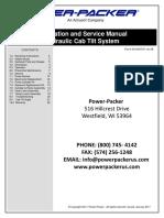 Installation and Service Manual Hydraulic Cab Tilt 3010003741 Rev 0B
