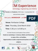 STEM Experience for 5th Class students to be held in Portlaoise College