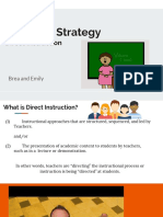 teaching strategy direct instruction