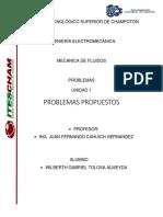 Problemas Propuestos 1 Mecanica de fluidos