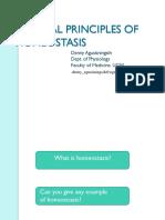 General Principles of Homeostasis