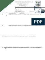 Prueba Escrita Matematicas Del 12 Al 16 de Marzo Del 2018