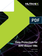 Data Protection for AHV-Based VMs