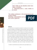 La profesión militar en los estudios sobre fuerzas armadas y sociedad. Lecturas, interpretaciones y usos desde la Argentina actual.