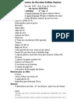 lista de material 2ºC