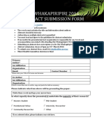 Abstract Submission Form