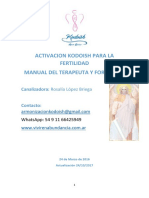 Activacion Kodoish Para La Fertilidad Manual
