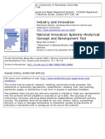 National Innovation System-Analytical Concept and Development Tool