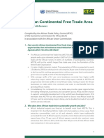 African Continental Free Trade Area Questions and Answers