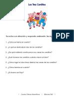 Los tres cerditos - Lenguaje comprensivo.pdf