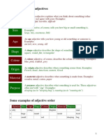 The Basic Types of Adjectives