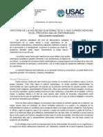 HISTORIA DE LA SOCIEDAD GUATEMALTECA Y SUS CONSECUENCIAS EN EL PROCESO SALUD ENFERMEDAD