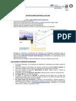 Instrucciones Matricula on Line