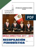RECOPILACION DE NOTAS PERIODISTICAS CONGRESO PERU 2018