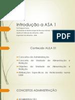 Aula 01 - Introdução a Asa i