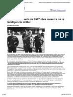 La Semana Santa de 1987 obra maestra de la Inteligencia militar