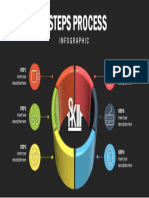 6 Steps Process Infographic by One Skill