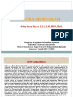 Etika Bisnis Islam Pasca Uin (Roby a. Brata, 23 September 2017)