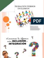 Integración Versus Inclusión